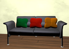 Sofa with cushions Royalty Free Stock Photos