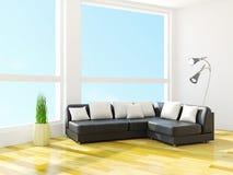 Sofa with cushions Stock Photos