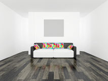 Sofa with cushions Royalty Free Stock Photo