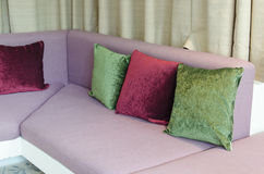 Sofa Cushions. Image of cushion on sofa, modern living room stock images