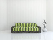Sofa with cushions Stock Photos