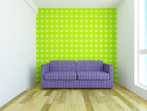 Sofa with cushions Royalty Free Stock Images