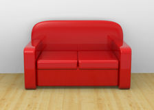 Sofa - 3D Royalty Free Stock Photography
