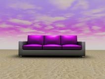sofa d'installation seul Photo libre de droits