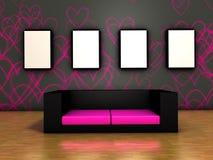 sofa d'intérieur Photo libre de droits