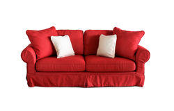 Sofa d'intérieur extérieur avec des oreillers Image stock