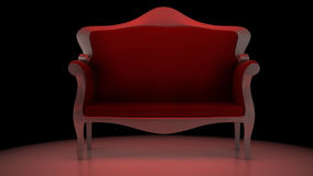 Red Chair. A 3D render of a red chair/sofa with a reddish glow Stock Image