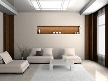 Sofa dans la chambre Image libre de droits