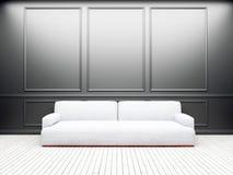 Sofa dans la chambre, 3d Photos stock
