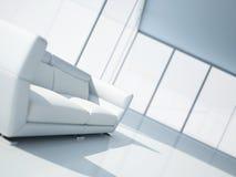 Sofa de cuir blanc Photo stock