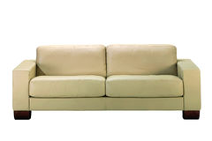 Sofa de cuir blanc Photo libre de droits