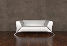 Sofa de cuir blanc Images libres de droits