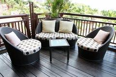 Sofa de rotin. Photos libres de droits