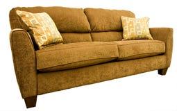 Sofa de salle de séjour avec les oreillers de jet colorés photographie stock