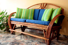 Sofa de terrasse Photographie stock