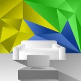 Sofa de TV sur le fond de triangle Illustration Libre de Droits