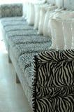 Sofa de zèbre Photo stock