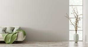 Sofa in der Wiedergabe des Wohnzimmers 3d stockfotos