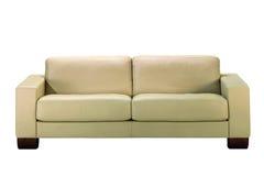 Sofa des weißen Leders Lizenzfreies Stockfoto
