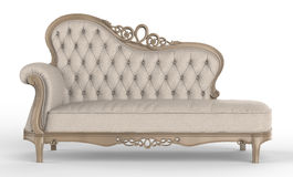 Sofa des weißen Leders Lizenzfreie Stockfotos