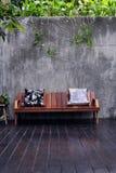 sofa drewniana Fotografia Royalty Free