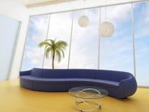 Sofa in einem modernen Innenraum Lizenzfreie Stockfotos