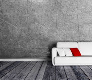 Sofa in the empty room Royalty Free Stock Photo