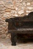 Sofa en bois photographie stock