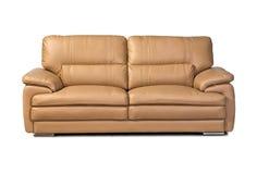 Sofa en cuir brun clair photo stock