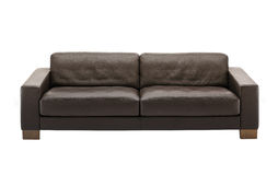 Sofa en cuir de Brown Photographie stock