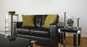 Sofa en cuir de créateur Photos libres de droits