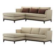 Sofa en forme de L Images libres de droits