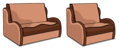 Sofa et chaise Alan Illustration Stock