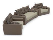 Sofa et fauteuil Photographie stock libre de droits