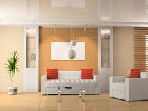 Sofa et fauteuil illustration libre de droits