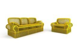 Sofa et fauteuil classiques Photo stock