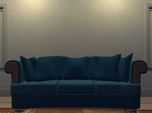 Sofa et mur 1 Illustration Stock