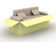 sofa för askläderemballage Royaltyfri Fotografi