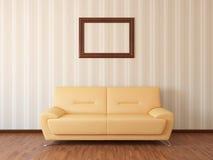 sofa för restlokal Arkivbild