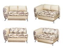 Sofa with fabric upholstery Stock Image