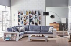 Sofa faisant le coin pour la maison photographie stock