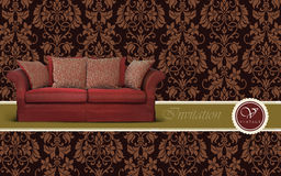 Sofa furniture Royalty Free Stock Image