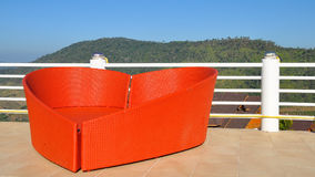 SOFA,furniture,heart. Sofa heart shapes at khaokor moutain in thailand Stock Image