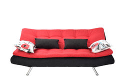 Sofa furniture. Isolated on white background Stock Photos