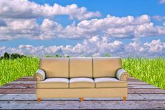Sofa furniture isolated on white background Royalty Free Stock Images