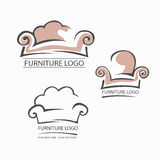 Sofa furniture logo for your business. Element design vector Stock Photography