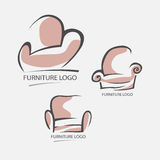 Sofa furniture logo for your business. Element design vector Royalty Free Stock Image