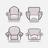 Sofa furniture logo for your business. Element design vector Royalty Free Stock Photography