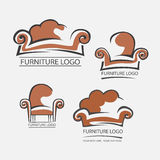 Sofa furniture logo for your business. Element design vector Royalty Free Stock Photo