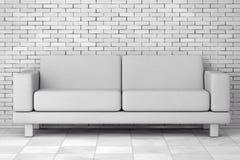 Sofa Furniture moderno simples branco rendição 3d ilustração do vetor